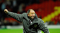 Photo: Leigh Quinnell/Sportsbeat Images.<br /> Watford v Bristol City. Coca Cola Championship. 01/12/2007. Bristol City manager Gary Johnson celebrates the win.