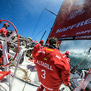 Leg 3, Cape Town to Melbourne, day 01, on board MAPFRE. Photo by Jen Edney/Volvo Ocean Race. 10 December, 2017.