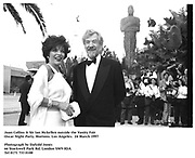 Joan Collins & Sir Ian Mckellen outside the Vanity Fair<br />