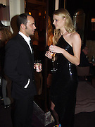 Tom Ford and Jodie Kydd. David Bailey dinner hosted by Lucy Yeomans at Gordon Ramsay at Claridge's. 12 November 2001. © Copyright Photograph by Dafydd Jones 66 Stockwell Park Rd. London SW9 0DA Tel 020 7733 0108 www.dafjones.com
