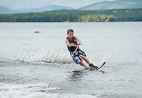 Water sports session with Curtis family and Bradley family on Lake Winnipesaukee.  ©2014 Karen Bobotas Photographer