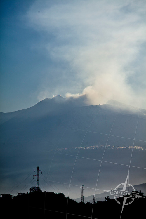Mount Etna on the Island of Sicily in Italy.