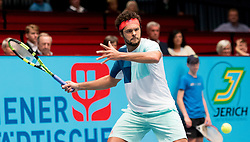 25.10.2016, Stadthalle, Wien, AUT, ATP Tour, Erste Bank Open, 1. Runde, im Bild Jo Wilfried Tsonga (FRA) // Jo Wilfried Tsonga of France during the 1st round match of Erste Bank Open of ATP Tour at the Stadthalle in Vienna, Austria on 2016/10/25. EXPA Pictures © 2016, PhotoCredit: EXPA/ Sebastian Pucher