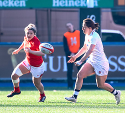 Katy Daley-Mclean of England<br /> <br /> Photographer Simon King/Replay Images<br /> <br /> Six Nations Round 3 - Wales Women v England Women - Sunday 24th February 2019 - Cardiff Arms Park - Cardiff<br /> <br /> World Copyright © Replay Images . All rights reserved. info@replayimages.co.uk - http://replayimages.co.uk