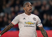 Football - 2018 / 2019 Premier League - Crystal Palace vs. Manchester United<br /> <br /> Ashley Young (Manchester United) celebrates after scoring at Selhurst Park.<br /> <br /> COLORSPORT/DANIEL BEARHAM