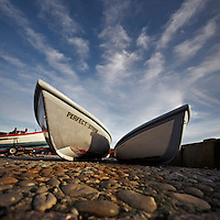 Boats at Freshwater Bay, Isle of Wight.