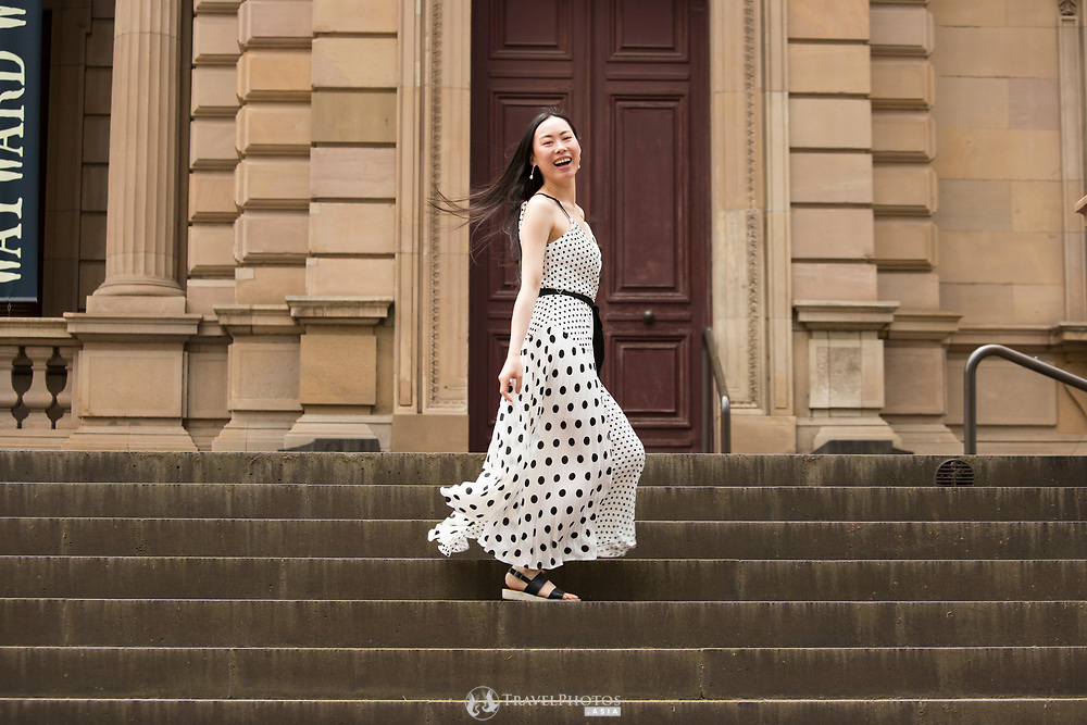 Photo shoot with Wendy Lu at Old Treasury Building in Melbourne CBD