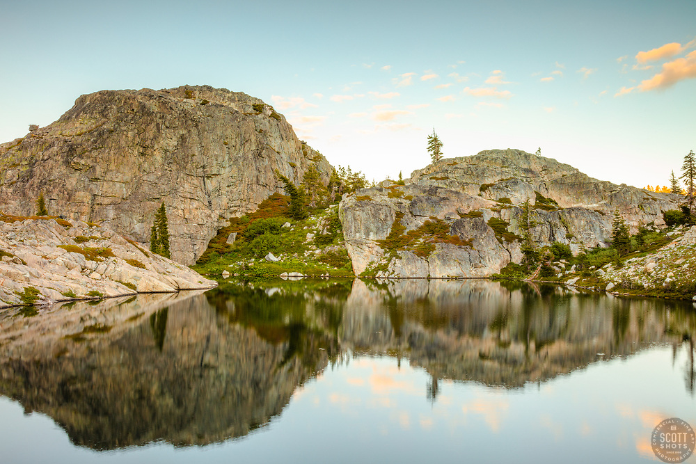 """""""Lake in the Tahoe Back Country 2"""" - Photograph of a small lake with no name in the Tahoe area back county, somewhat near Jackson Meadows."""