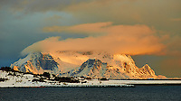Dawn in Norway Above the Arctic Circle on the Hurtigruten M/V Nordkapp. Image taken with a Nikon D800 and 180 mm f/2.8D lens (ISO 100, 180 mm, f/6.3, 1/160 sec).