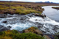Iceland. River along the road to Askja in the highlands of Iceland.