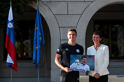 Peter Kauzer and Maja Makovec Brencic during reception of Slovenian Olympic Team at Vila Podroznik when they came back from Rio de Janeiro after Summer Olympic games 2016, on August 26, 2016 in Ljubljana, Slovenia. Photo by Matic Klansek Velej / Sportida