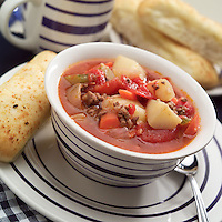 A cup of vegetable soup