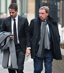 © Licensed to London News Pictures. 07/02/2012. London, UK.  Harry Redknapp (right), arriving at Southwark Crown Court on February 7th, 2012 wit his son Jamie Redknapp (Left). Harry Redknapp faces two counts of cheating the public revenue. Charges relate to the payment of $295k from Milan Mandaric to Harry Redknapp via a bank account in Monaco, evading tax and national insurance while the pair were at Portsmouth Football Club. Photo credit : Ben Cawthra/LNP