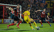 *** during the Capital One Cup match between Bournemouth and Liverpool at the Goldsands Stadium, Bournemouth, England on 17 December 2014.