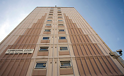 © Licensed to London News Pictures 19/08/2009.GV of Lambourne Court, a tower block on Orchard Estate, Woodford, north London..Photo/Anna Branthwaite.London, UK.Photo credit: Anna Branthwaite