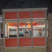 NLD/Den Haag/20070410 - Geboort 3e kind Willem Alexander en Maxima, versiering aan de zusterflat