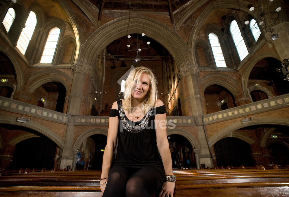 Picture by Daniel Hambury..4/11/09..Radio 1 DJ Jo Wiley pictured in Union Chapel, London which will be the venue for the Little Noises gigs.