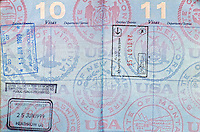 Passport Stamps for the UK, NO, and NL.