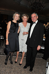 Left to right, CARLA BAMBERGER and LUCA & SARA CUMANI at the 21st Cartier Racing Awards held at The Dorchester, Park Lane, London on 15th November 2011.