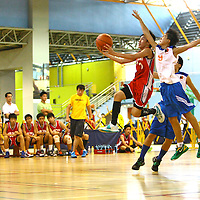 Clementi Sports Hall, Monday, July 23, 2012 - Unity Secondary were too strong for New Town Secondary and swept past them 92-50 in the semi-finals of the West Zone C Division Boys' Basketball Championship.<br /> <br /> Story at: http://redsports.sg/2012/07/24/west-zone-c-div-bball-unity-new-town/