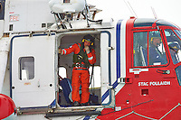 Netherlands Coast Guard Rescue Helicopter (G-BIMU, Stac Pollaidh) Hovering Near the Semester at Sea M/V Explorer in the North Sea. Image taken with a Nikon D4 and 80-400 mm VRII lens (ISO 800, 400 mm, f/13, 1/640 sec).