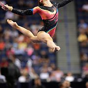 Abigail Milliet, Denton, Texas, in action during the Floor Exercise during the Senior Women Competition at The 2013 P&G Gymnastics Championships, USA Gymnastics' National Championships at the XL, Centre, Hartford, Connecticut, USA. 15th August 2013. Photo Tim Clayton
