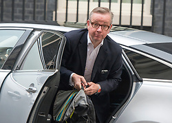 © Licensed to London News Pictures. 03/09/2014. London, UK Michael Gove at Downing Street for the COBRA meeting on 3rd September 2014. Photo credit : Stephen Simpson/LNP