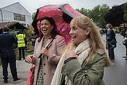KIRSTY ALLSOPP, CLEMENTINE HAMBRO;  Chelsea Flower Show, 18 May 2015.