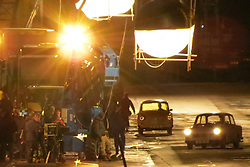 © Licensed to London News Pictures. 27/10/2013. Kent, UK Filming on the set of The Man From U.N.C.L.E. directed by Guy Ritchie. The filming took place at Chatham Historic Dockyard in Kent . Photo credit : Graham Long/LNP