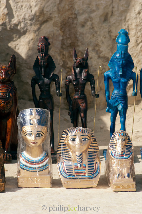 Souveniers for sale at the Giza Pyramid complex, Giza, Egypt