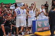 Trento 27 Luglio 2012 - Trentino Basket Cup Italia Montenegro<br /> Nella Foto: esultanza team italia<br /> Foto Ciamillo