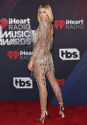 2018 iHeartRadio Music Awards. The Forum, Inglewood, California. Pictured: Marshmello. EVENT March 11, 2018. 11 Mar 2018 Pictured: Hailey Baldwin. Photo credit: AXELLE/BAUER-GRIFFIN/MEGA TheMegaAgency.com +1 888 505 6342