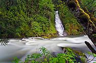 Eureka Falls flows into Silverhope Creek near Silver Lake Provincial Park, Hope, British Columbia, Canada