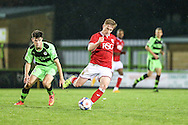 Bristol City's Connor Evans during the The County Cup match between Forest Green Rovers and Bristol City at the New Lawn, Forest Green, United Kingdom on 23 November 2015. Photo by Shane Healey.
