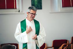 Pastor Peter Pucnik during photoshoot on July 30. 2020 in Veržej, Slovenia. Photo by Blaž Weindorfer / Sportida