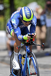 June 7, 2017 - Bourgoin Jallieu, France - BOURGOIN-JALLIEU, FRANCE - JUNE 7 : MINNAARD Marinus Cornelis (NED) Rider of Wanty - Groupe Gobert during stage 4 of the 69th edition of the Criterium du Dauphine Libere cycling race, an individual time trail of 23,5 kms between La Tour-du-Pin and Bourgoin-Jallieu on June 07, 2017 in Bourgoin-Jallieu, France, 7/06/2017 (Credit Image: © Panoramic via ZUMA Press)