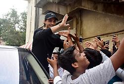 October 5, 2018 - Mumbai, India - Indian film actor Aayush Sharma meets his fans at Chandan cinema, Juhu in Mumbai. (Credit Image: © Azhar Khan/SOPA Images via ZUMA Wire)