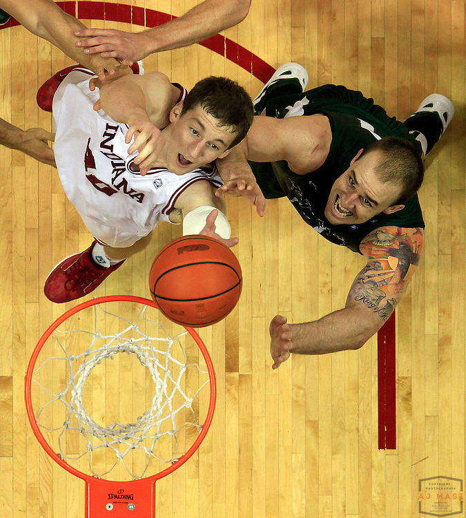 04 December 2011: Indiana Forward Cody Zeller (40)  as the Indiana Hoosiers played the Stetson Hatters in a college basketball game in Bloomington, Ind.