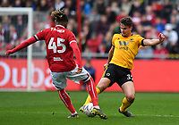 Football - 2018 / 2019 Emirates FA Cup - Fifth Round: Bristol City vs. Wolverhampton Wanderers<br /> <br /> Wolverhampton Wanderers' Leander Dendoncker battles for possession with Bristol City's Kasey Palmer, at Ashton Gate.<br /> <br /> COLORSPORT/ASHLEY WESTERN