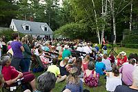 Senator Elizabeth Warren speaks at a Wolfeboro House Party.  Karen Bobotas for the Laconia Daily Sun