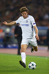 October 31, 2017 - Rome, Italy - Marcos Alonso of Chelsea during the UEFA Champions League group C match between AS Roma and Chelsea FC at Stadio Olimpico on October 31, 2017 in Rome, Italy. (Credit Image: © Matteo Ciambelli/NurPhoto via ZUMA Press)