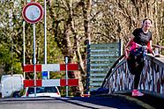 Toegangswegen en parkeerplaatsen Kralingse Bos dicht Naast de toegangswegen van het Kralingse Bos