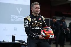 Driver Kevin Magnussen during the Haas 2019 livery presentation at the Barcelona Catalunya racetrack during day one of pre-season testing at the Circuit de Barcelona-Catalunya.