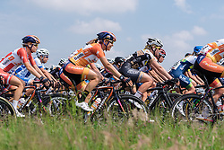 Romy Kasper in the bunch at Boels Hills Classic 2016. A 131km road race from Sittard to Berg en Terblijt, Netherlands on 27th May 2016.