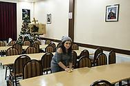 A Lebanese Armenian woman working in the dining hall of the Samatya Kilisesi, Fatih district, Istanbul, Turkey.