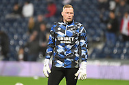 Derby County goalkeeper Ryan Allsop  (31) during the EFL Sky Bet Championship match between West Bromwich Albion and Derby County at The Hawthorns, West Bromwich, England on 14 September 2021.
