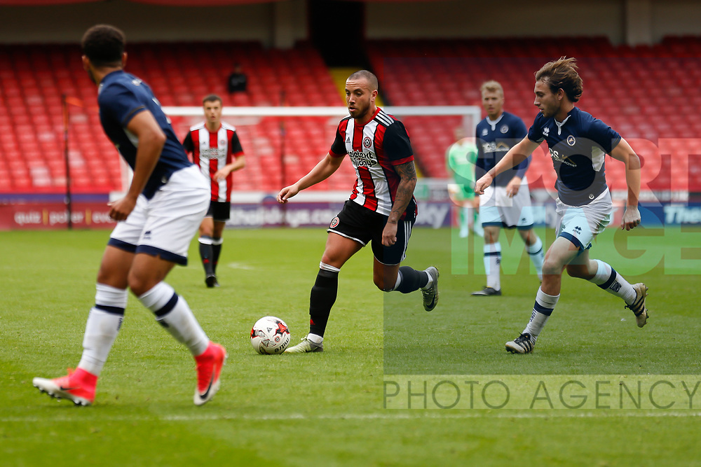 Samir Carruthers of Sheffield Utd during the U23 Professional Development League Two match at Bramall Lane Stadium, Sheffield. Picture date 18th August 2017. Picture credit should read: John Taff/Sportimage