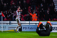 Ben Whiteman of Doncaster Rovers (8) scores a goal and celebrates to make the score 1-0 during the The FA Cup fourth round match between Doncaster Rovers and Oldham Athletic at the Keepmoat Stadium, Doncaster, England on 26 January 2019.
