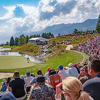 30.08.2019; Crans Montana; GOLF - European Masters - 2.Runde;<br /> Rory McIlroy (NIR) auf dem 13. Green vor den Zuschauern <br /> (Andy Mueller/freshfocus)