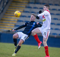 Raith Rovers Bobby Barr and Airdrie's Jack Hastie. Raith Rovers 2 v 1 Airdrie, Scottish Football League Division One game played 10/2/2018 at Stark's Park, Kirkcaldy.